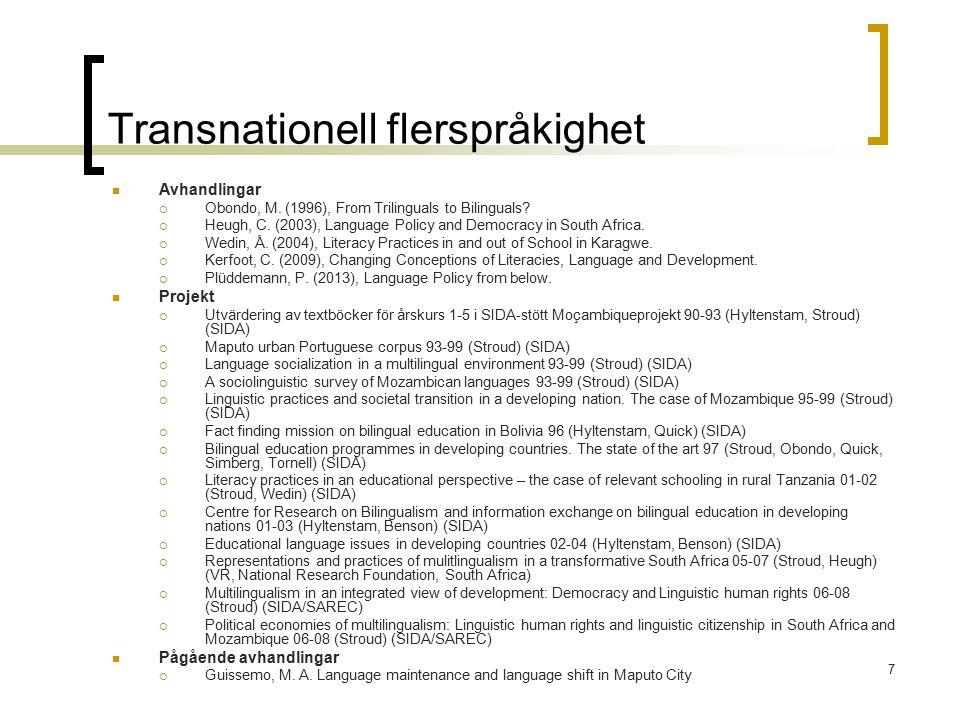 Transnationell flerspråkighet