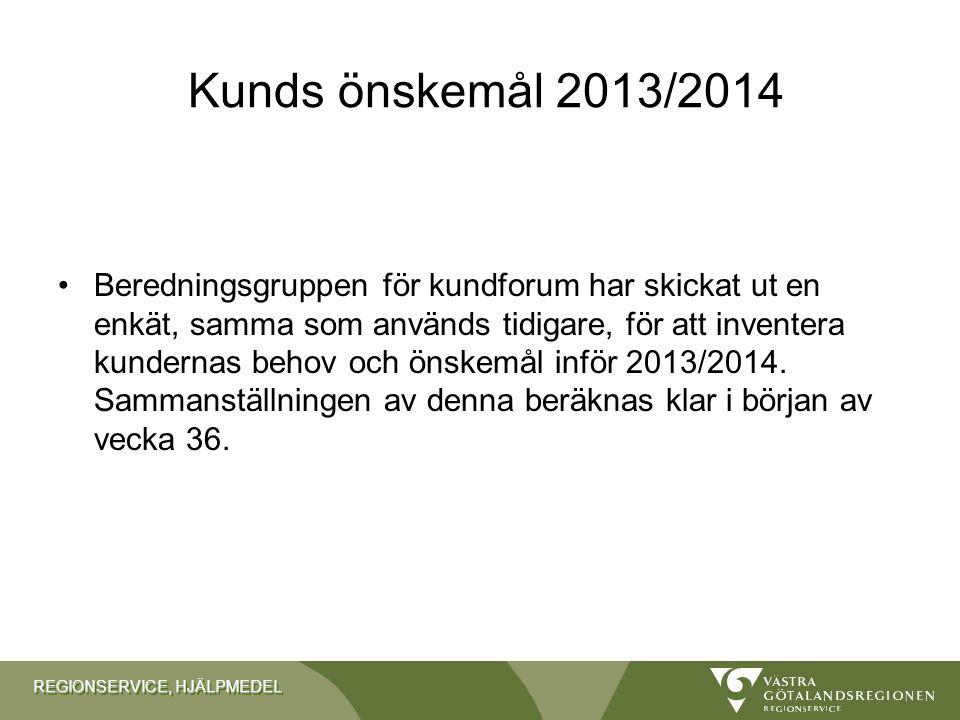 Kunds önskemål 2013/2014