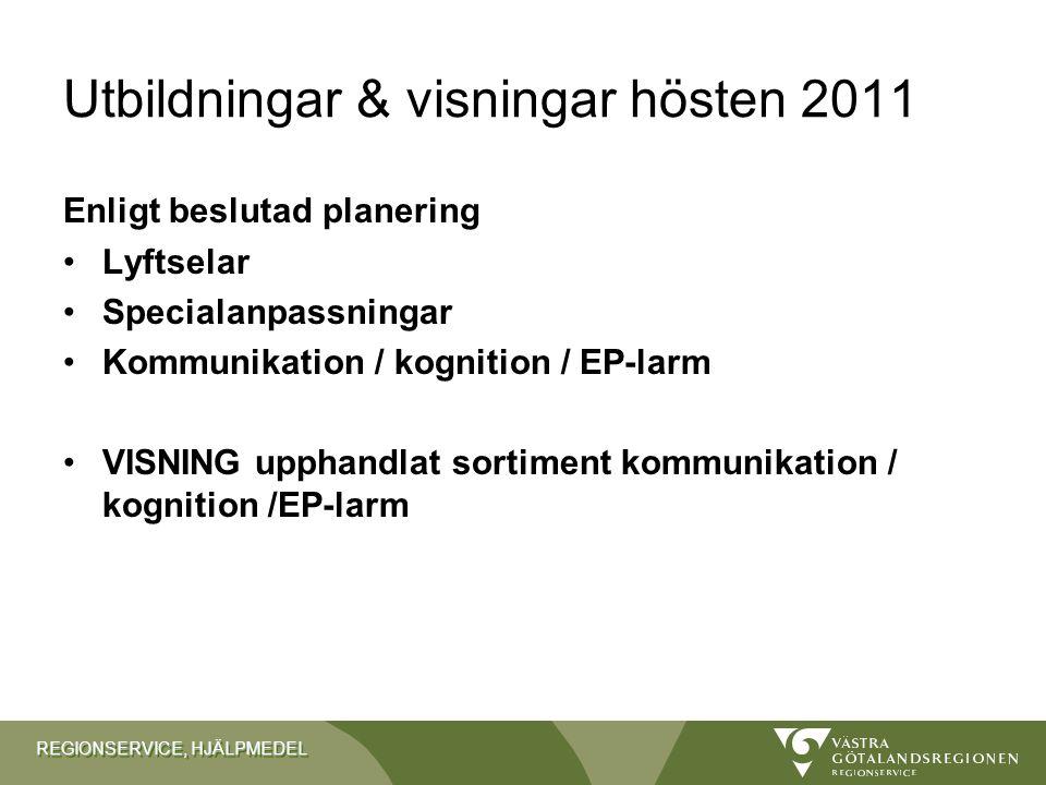 Utbildningar & visningar hösten 2011