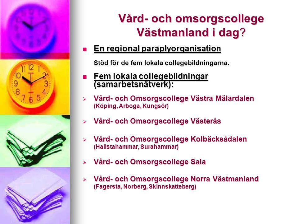 Vård- och omsorgscollege Västmanland i dag