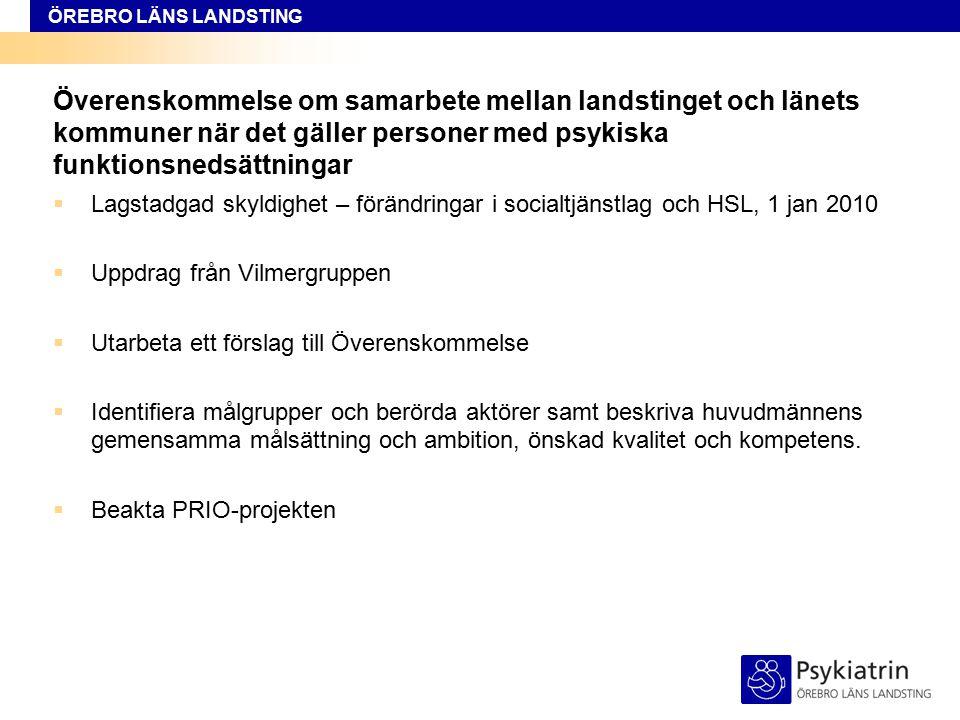 Överenskommelse om samarbete mellan landstinget och länets kommuner när det gäller personer med psykiska funktionsnedsättningar