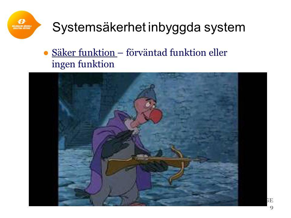 Systemsäkerhet inbyggda system