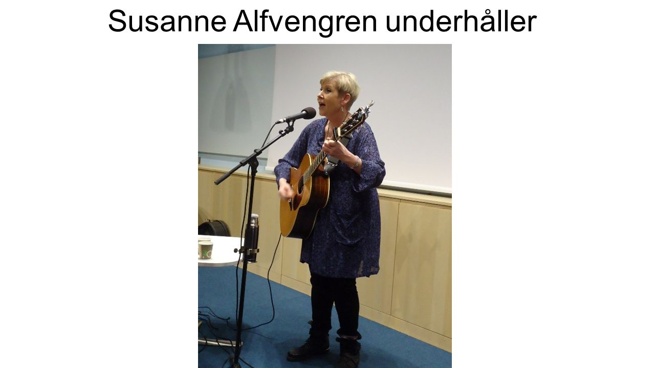 Susanne Alfvengren underhåller