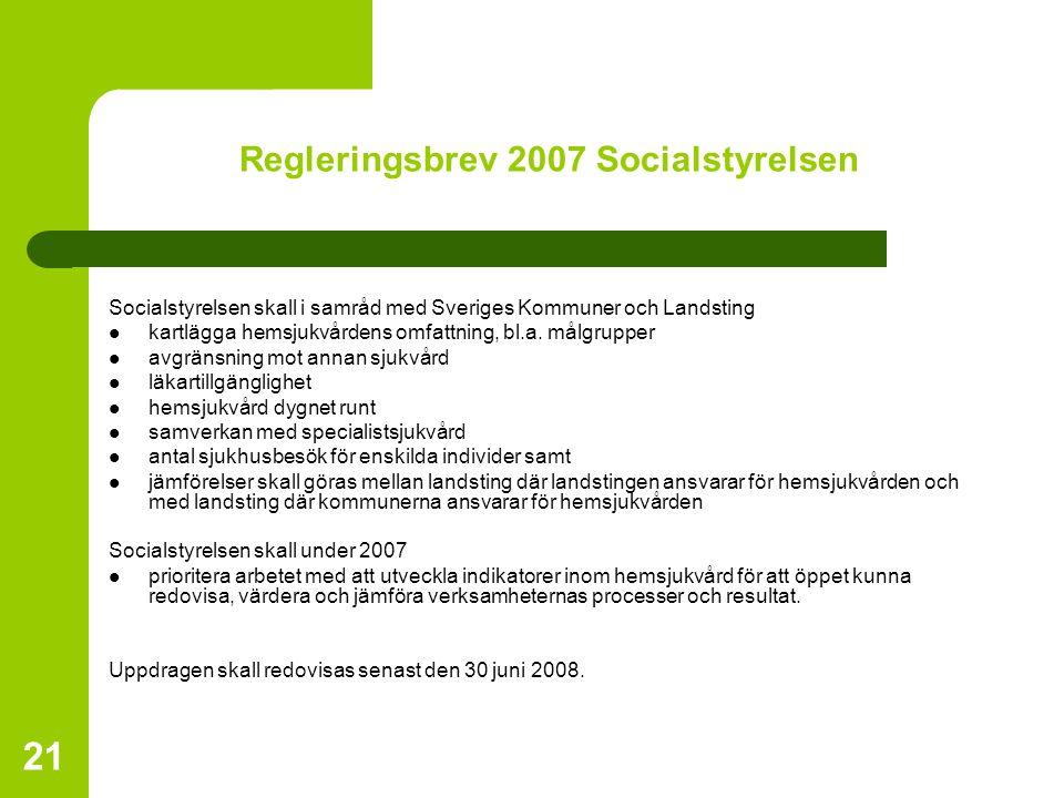 Regleringsbrev 2007 Socialstyrelsen