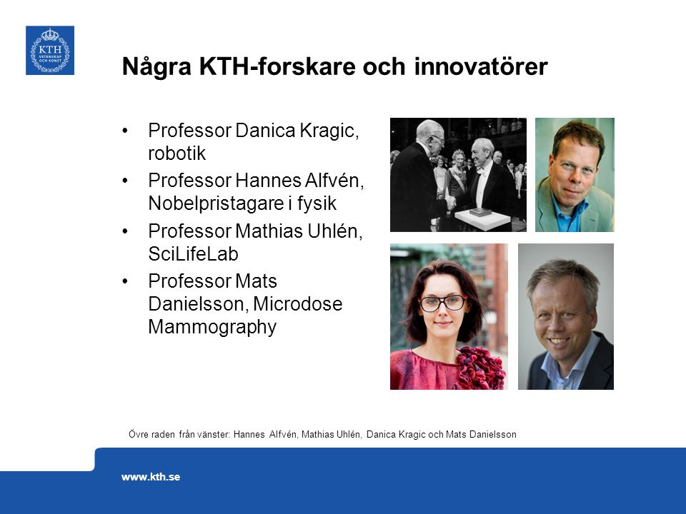 Några KTH-forskare och innovatörer