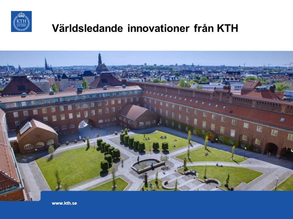 Världsledande innovationer från KTH