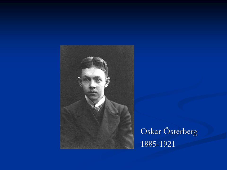 Oskar Österberg 1885-1921