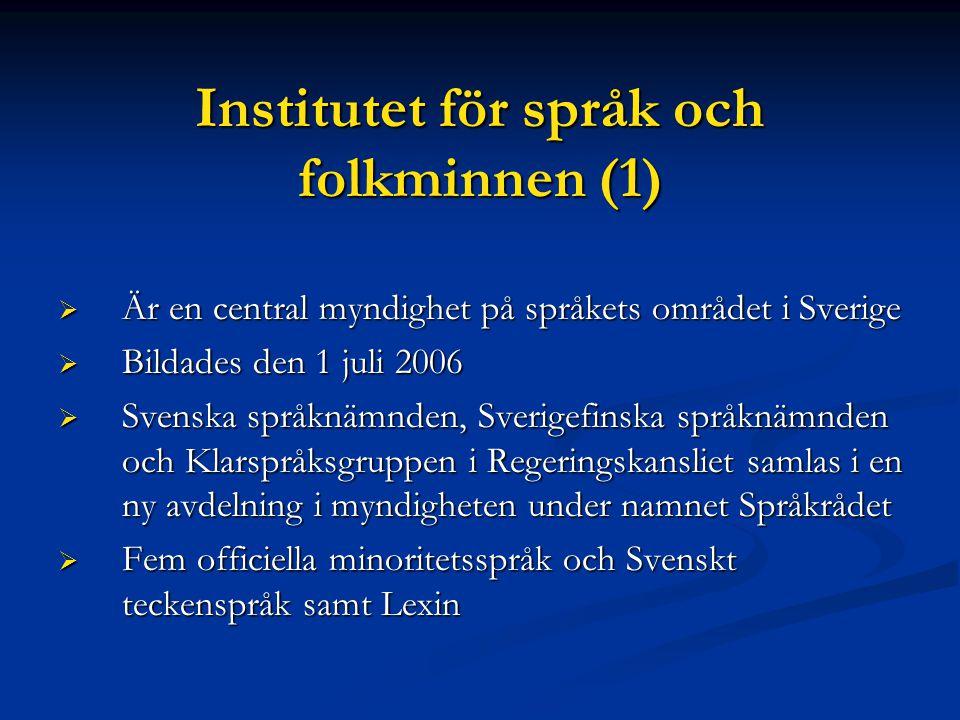 Institutet för språk och folkminnen (1)