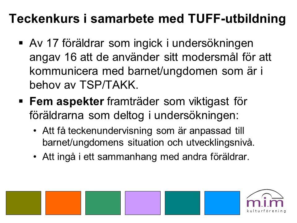 Teckenkurs i samarbete med TUFF-utbildning