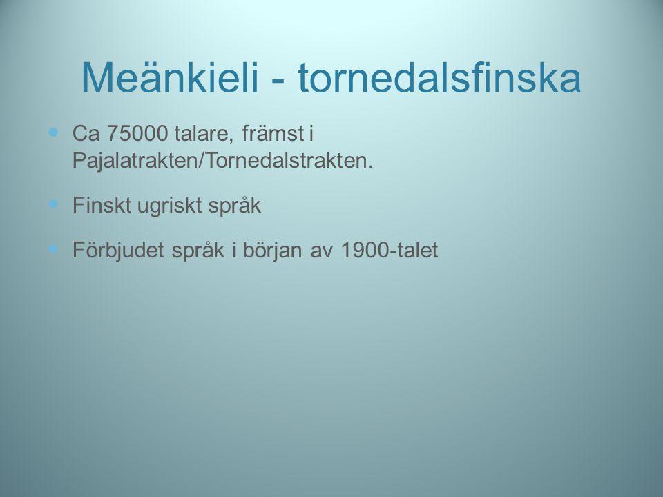 Meänkieli - tornedalsfinska