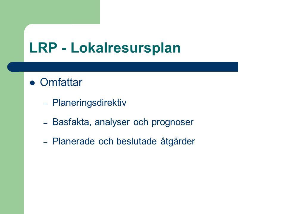 LRP - Lokalresursplan Omfattar Planeringsdirektiv