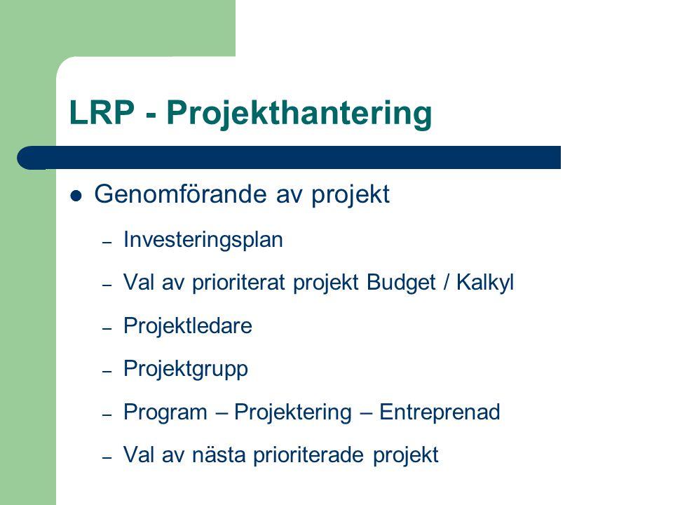 LRP - Projekthantering