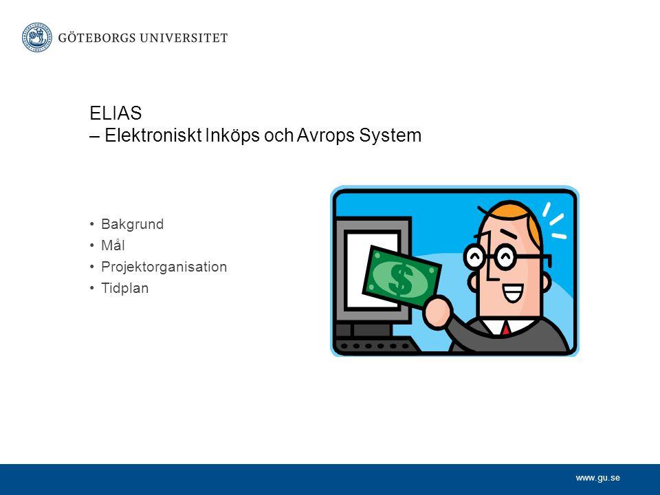 ELIAS – Elektroniskt Inköps och Avrops System