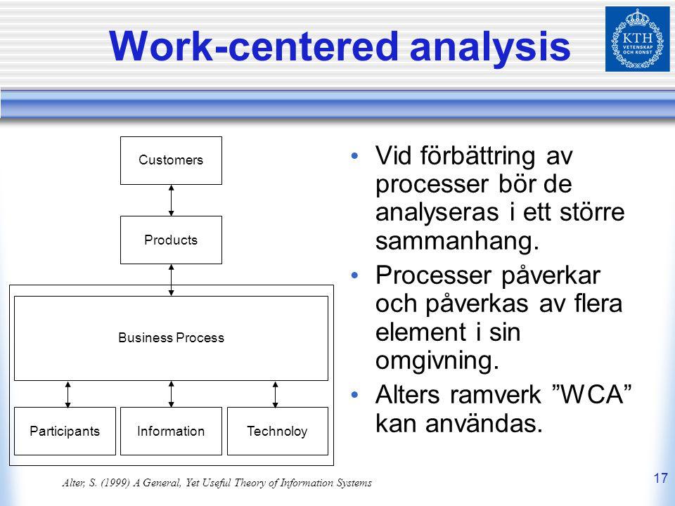 Work-centered analysis