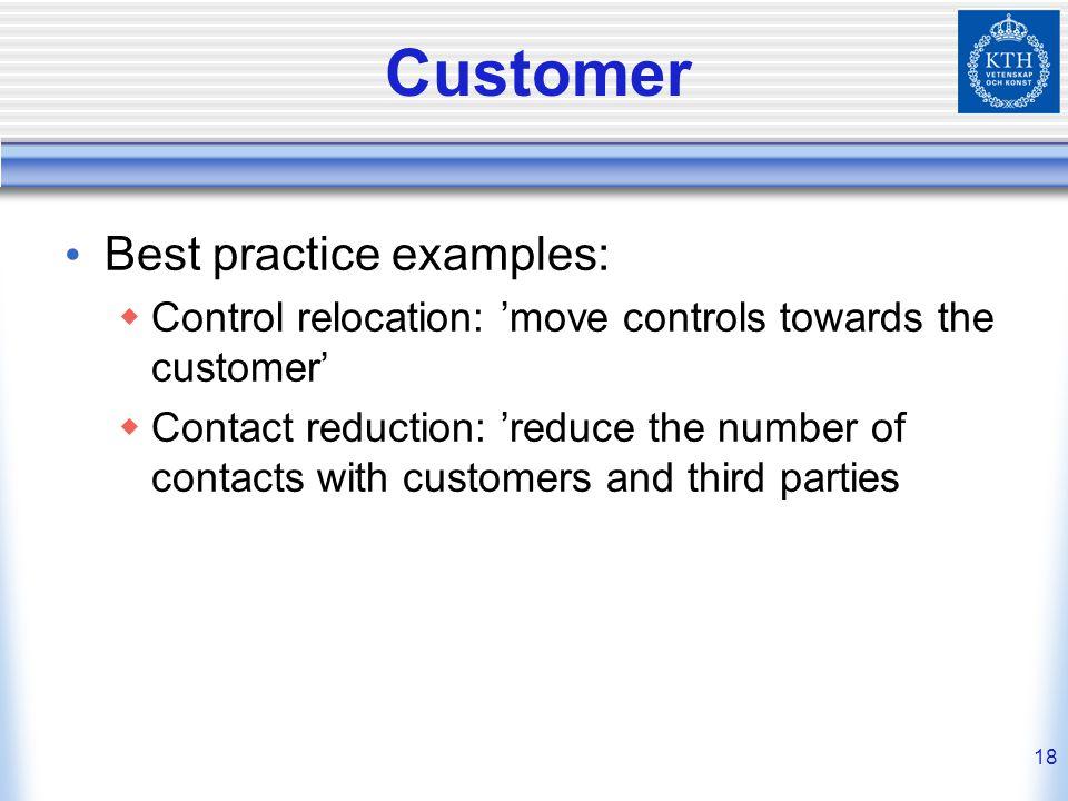 Customer Best practice examples: