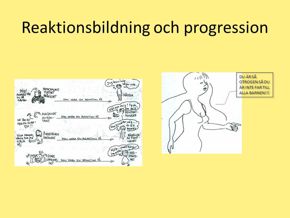 Reaktionsbildning och progression