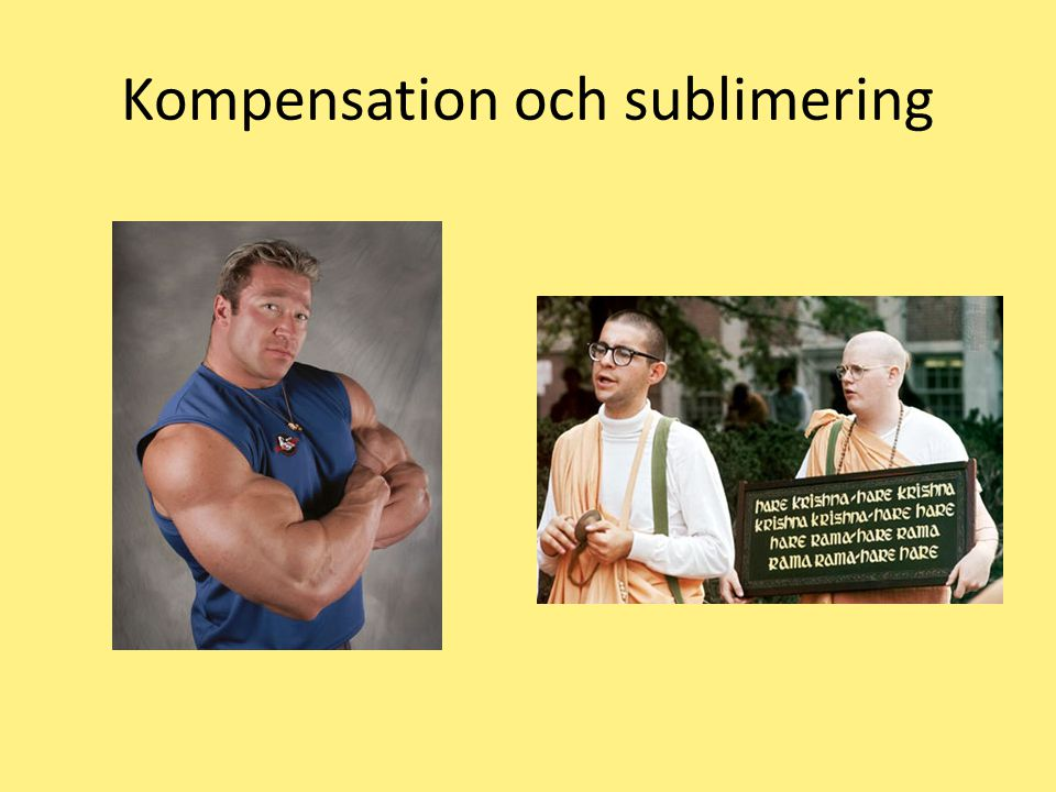 Kompensation och sublimering