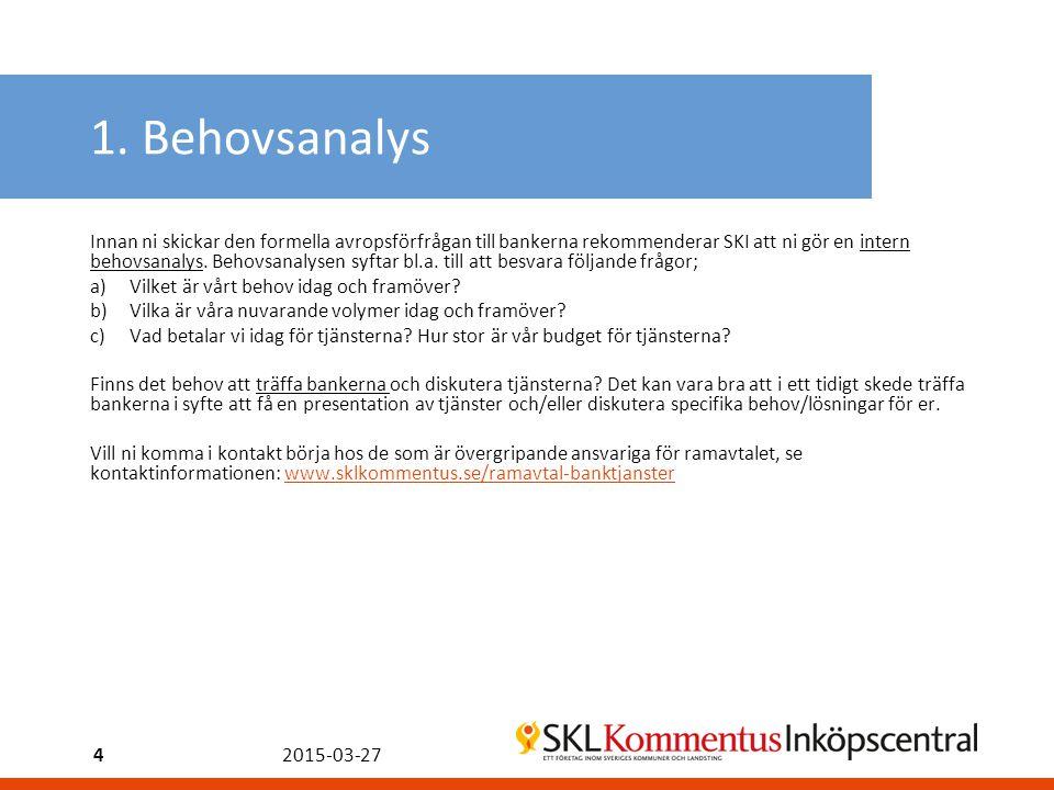 1. Behovsanalys
