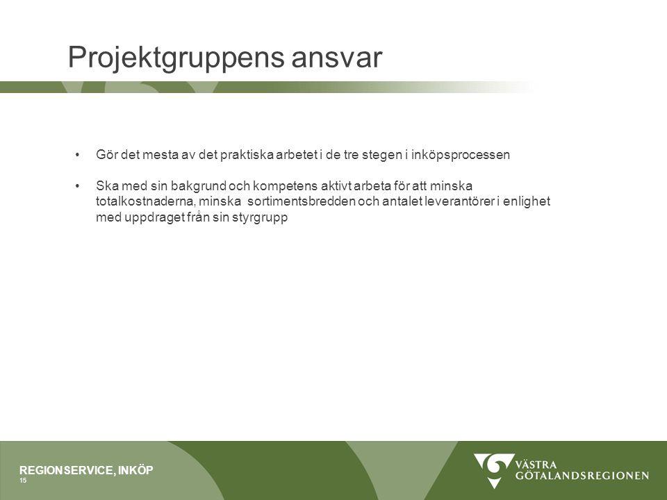 Projektgruppens ansvar