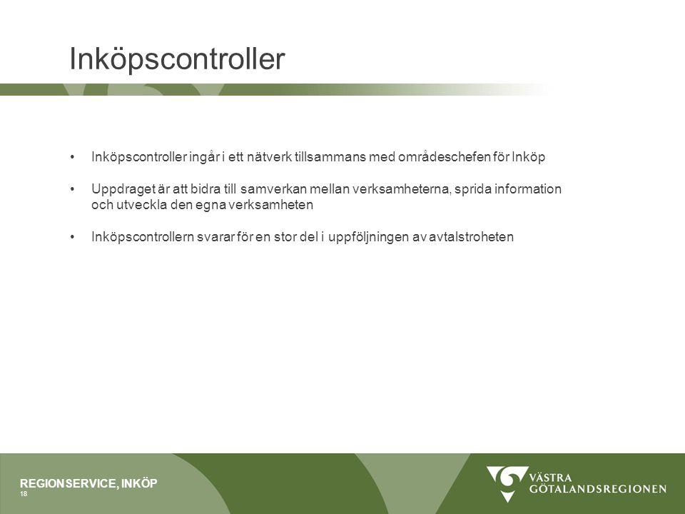 Inköpscontroller Inköpscontroller ingår i ett nätverk tillsammans med områdeschefen för Inköp.