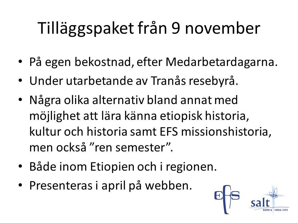 Tilläggspaket från 9 november