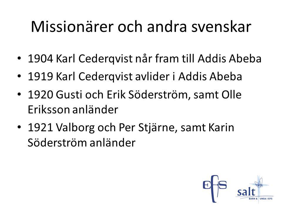 Missionärer och andra svenskar