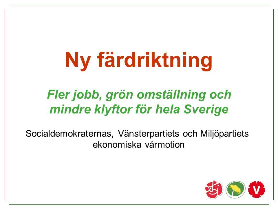 Fler jobb, grön omställning och mindre klyftor för hela Sverige
