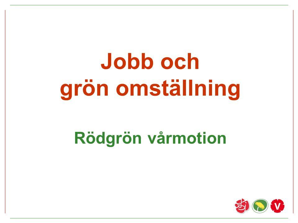 Jobb och grön omställning Rödgrön vårmotion