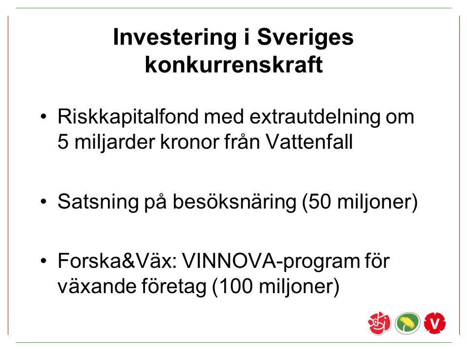 Investering i Sveriges konkurrenskraft