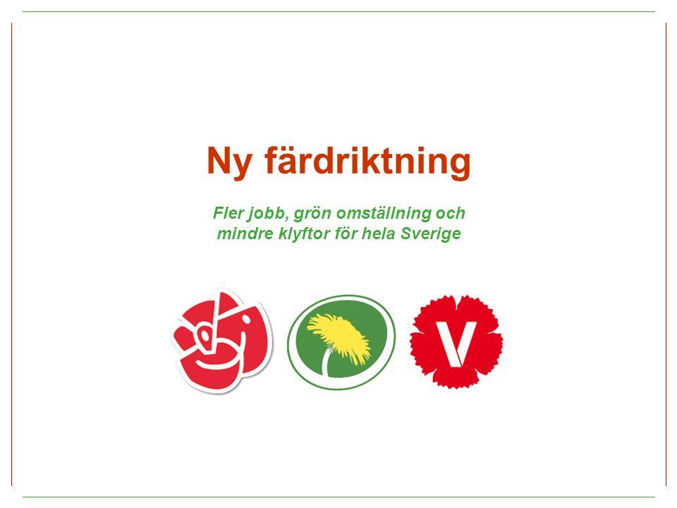 Ny färdriktning Fler jobb, grön omställning och mindre klyftor för hela Sverige