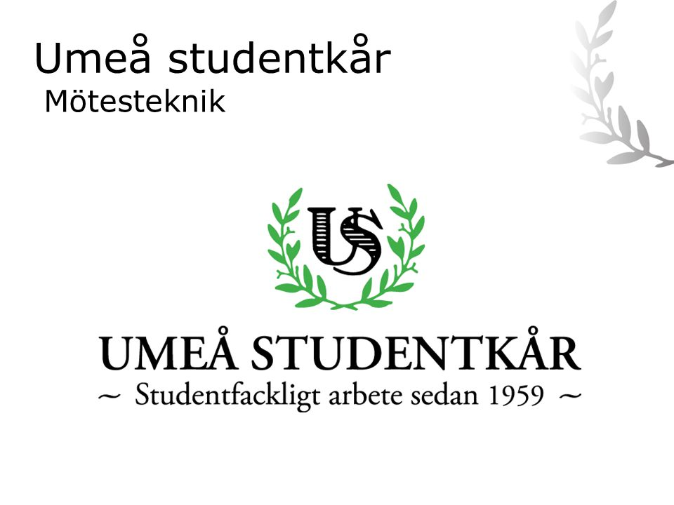 Umeå studentkår Mötesteknik