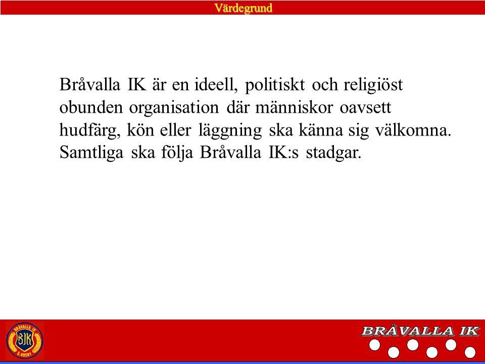 BRÅVALLA IK Bråvalla IK är en ideell, politiskt och religiöst