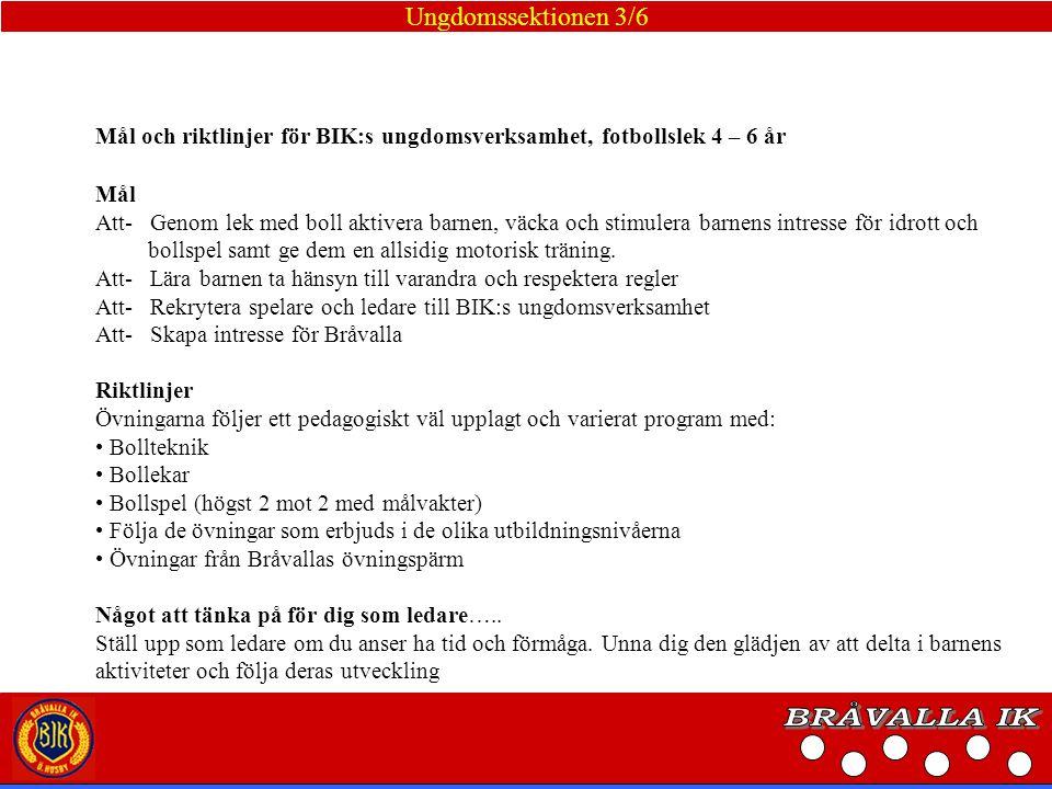 BRÅVALLA IK Ungdomssektionen 3/6