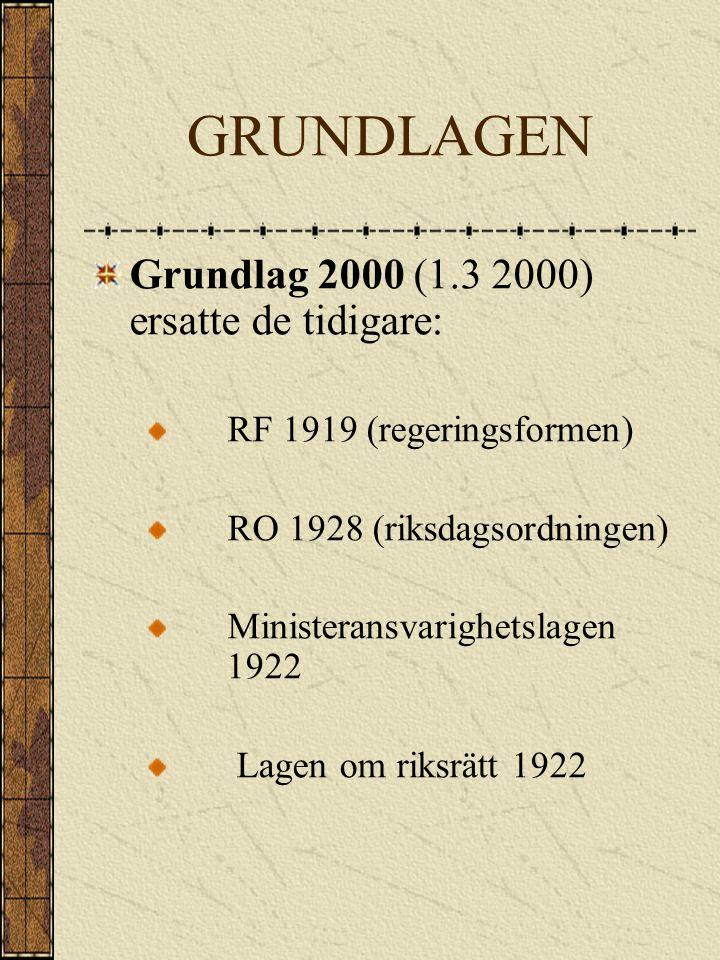 GRUNDLAGEN Grundlag 2000 (1.3 2000) ersatte de tidigare: