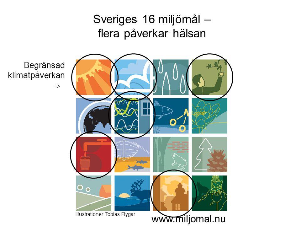 Sveriges 16 miljömål – flera påverkar hälsan www.miljomal.nu