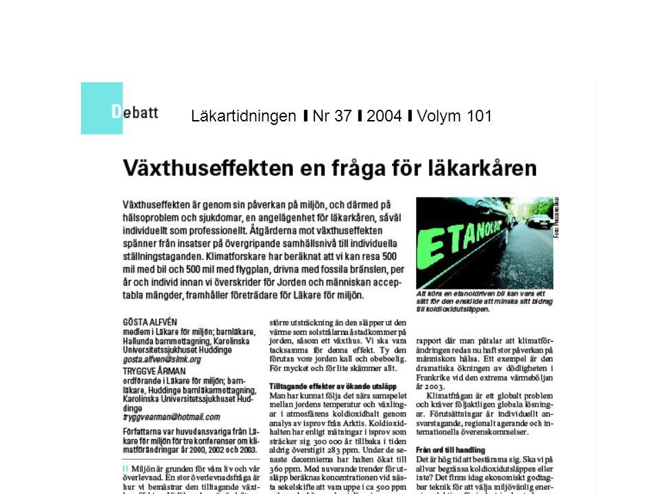 Läkartidningen ❙ Nr 37 ❙ 2004 ❙ Volym 101