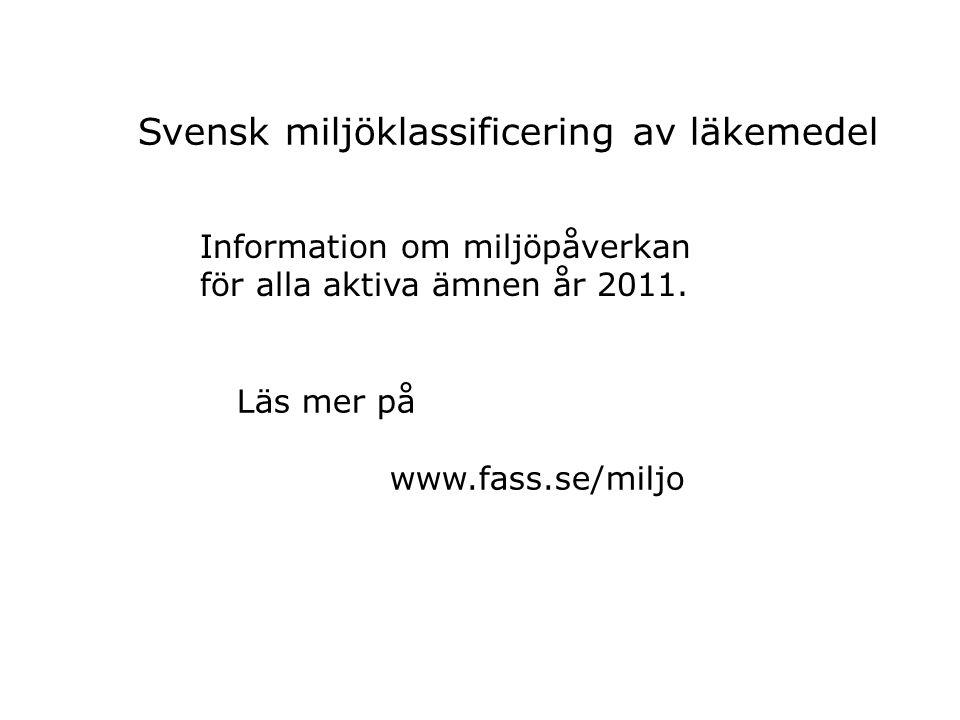 Svensk miljöklassificering av läkemedel