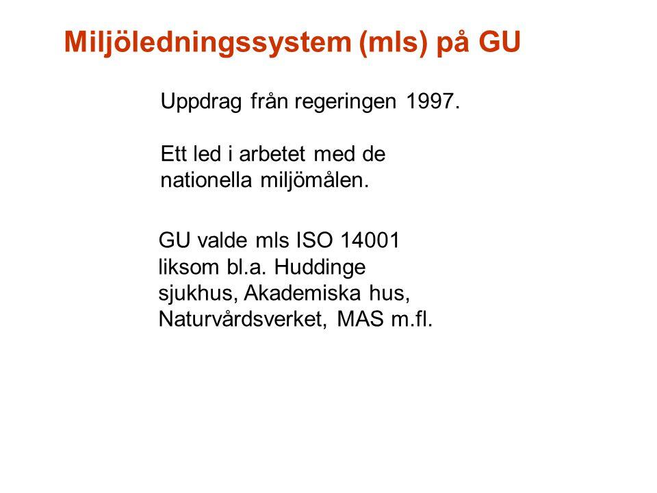 Miljöledningssystem (mls) på GU
