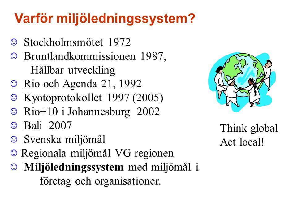 Varför miljöledningssystem