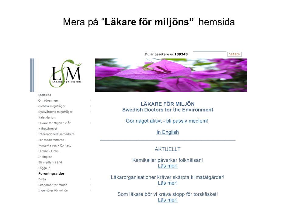 Mera på Läkare för miljöns hemsida