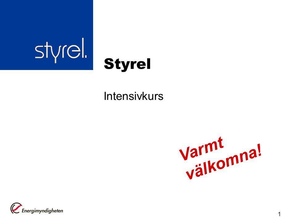 Styrel Intensivkurs Varmt välkomna!
