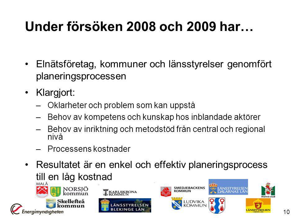 Under försöken 2008 och 2009 har…