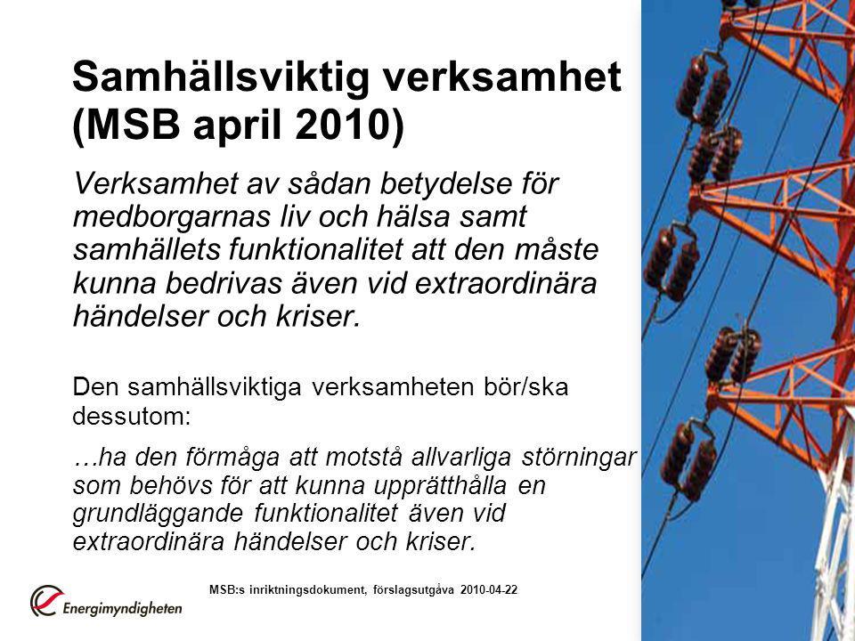 Samhällsviktig verksamhet (MSB april 2010)