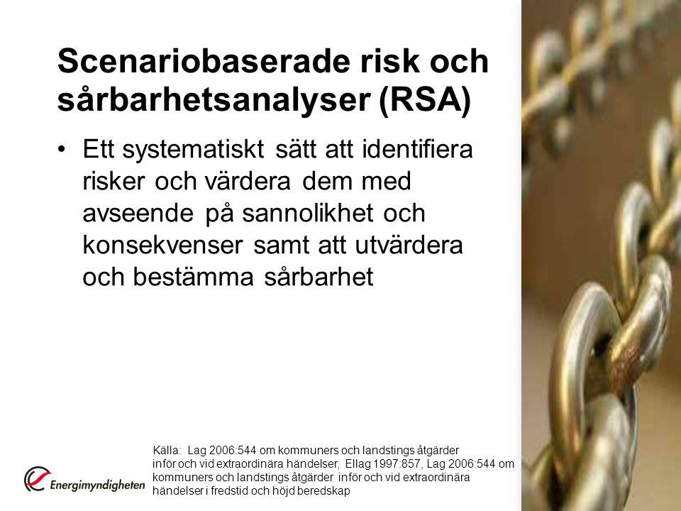 Scenariobaserade risk och sårbarhetsanalyser (RSA)