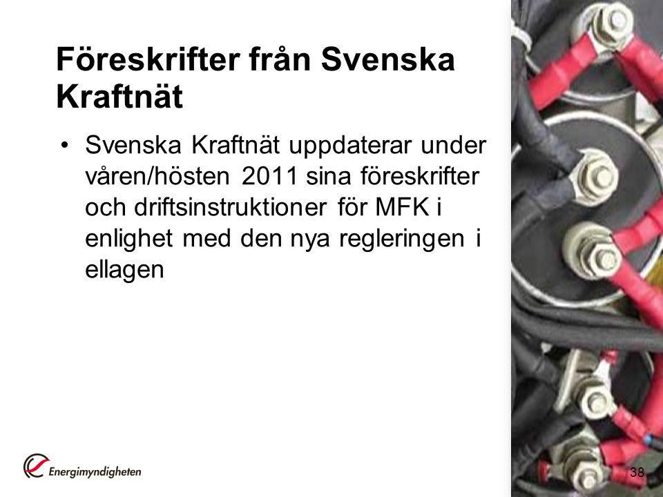 Föreskrifter från Svenska Kraftnät