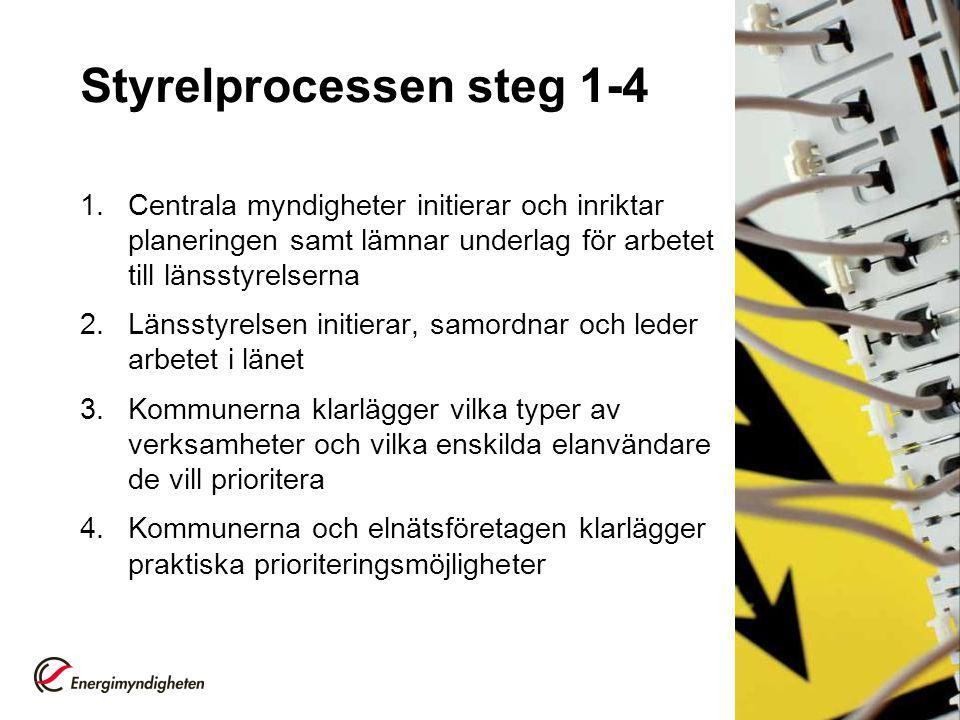 Styrelprocessen steg 1-4