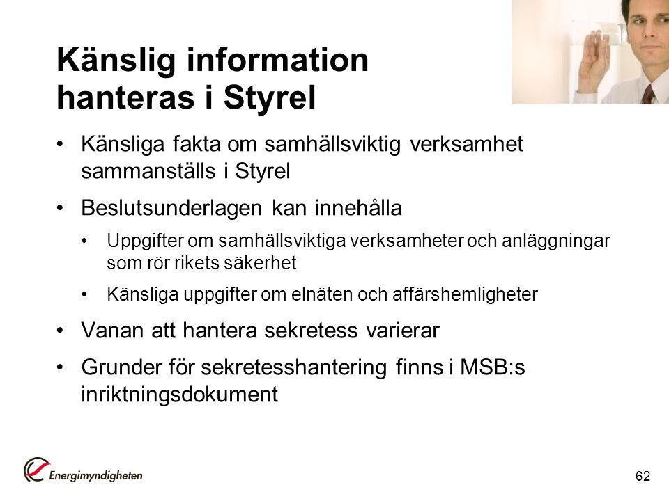Känslig information hanteras i Styrel
