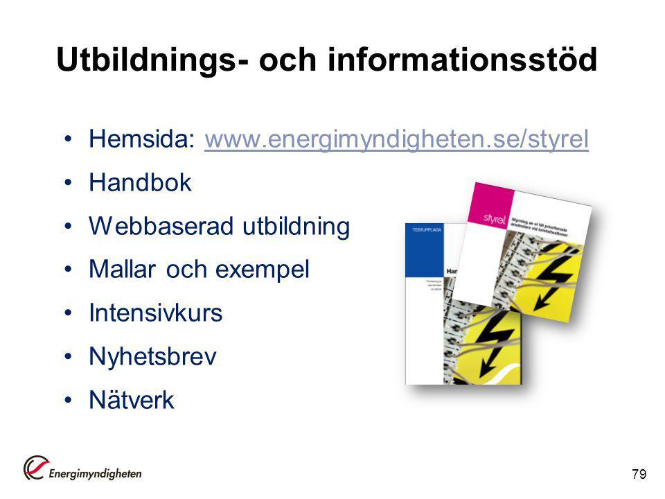 Utbildnings- och informationsstöd