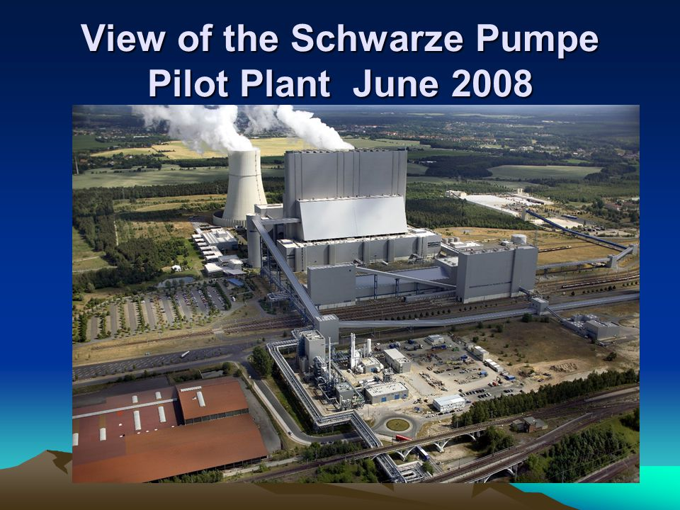 View of the Schwarze Pumpe Pilot Plant June 2008