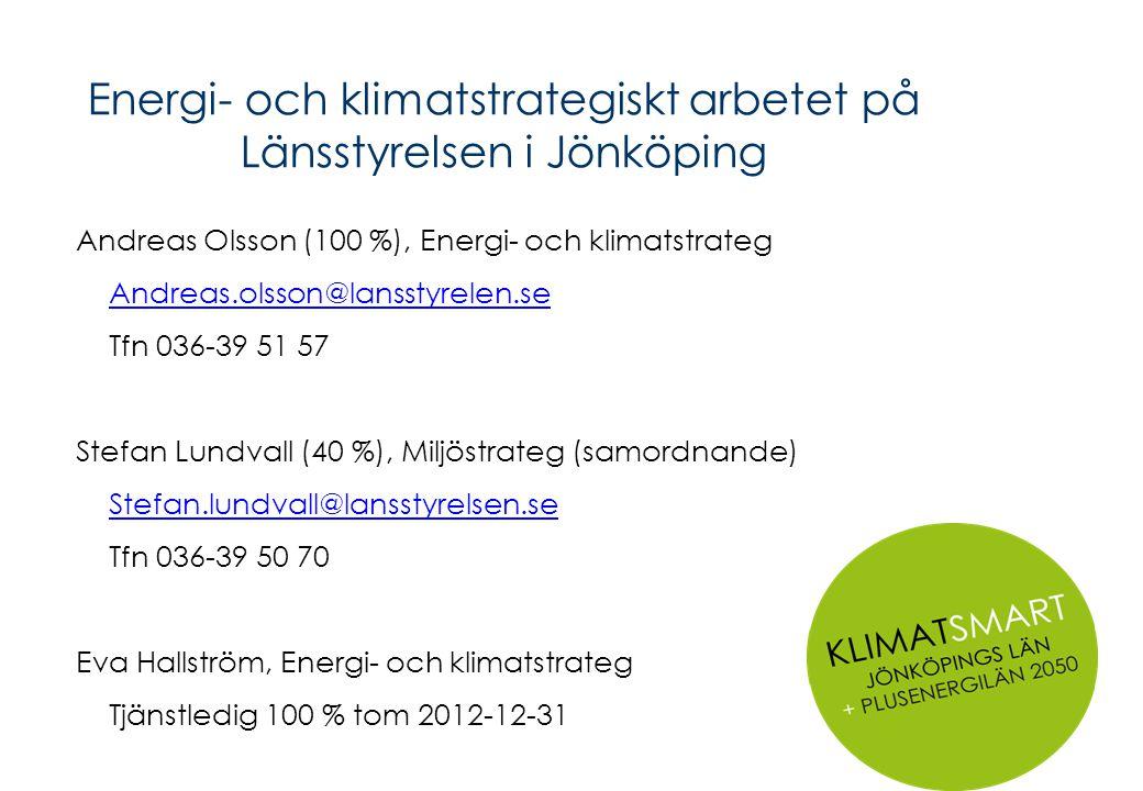 Energi- och klimatstrategiskt arbetet på Länsstyrelsen i Jönköping